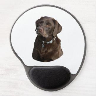 Chocolate Labrador photo portrait Gel Mousepad
