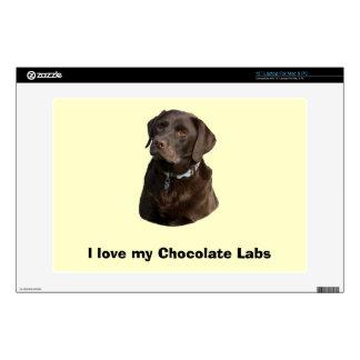 Chocolate Labrador photo portrait Laptop Decal