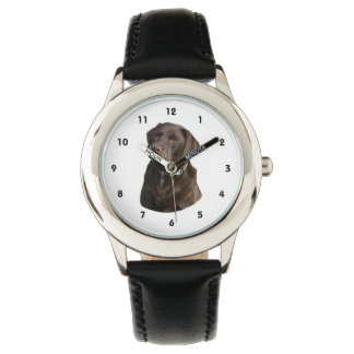 Chocolate Labrador photo portrait Wrist Watch