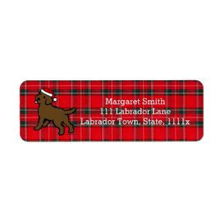 Chocolate Labrador Puppy Christmas Label