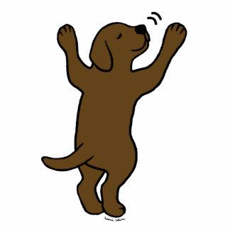 Chocolate Labrador Puppy Hug Cartoon Cutout