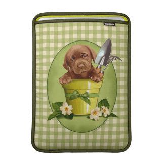 Chocolate Labrador Puppy MacBook Sleeves