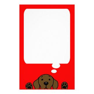 Chocolate Labrador que le mira Papelería