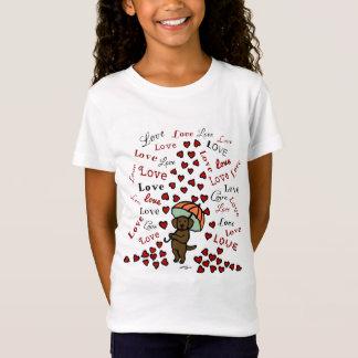 Chocolate Labrador Rain of Hearts T-Shirt