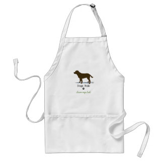 Chocolate Labrador Retriever Adult Apron
