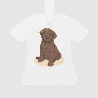 Chocolate Labrador Retriever Angel Ornament