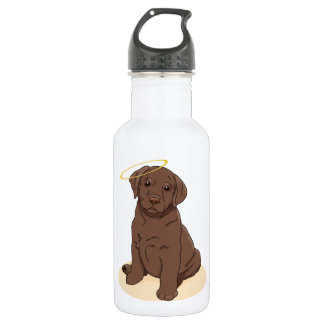 Chocolate Labrador Retriever Angel Stainless Steel Water Bottle