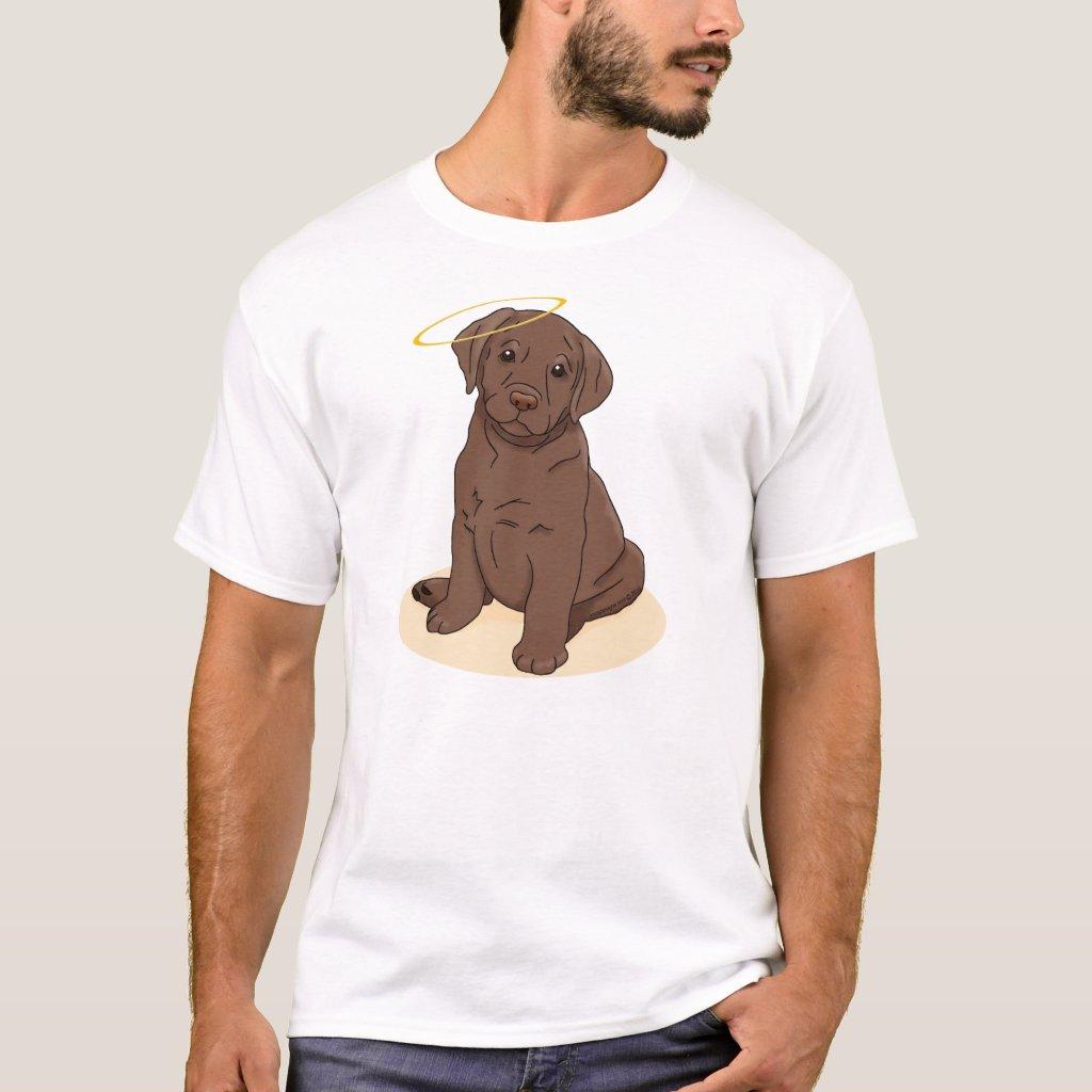 Chocolate Labrador Retriever Angel T-shirts