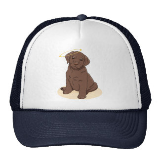 Chocolate Labrador Retriever Angel Trucker Hat