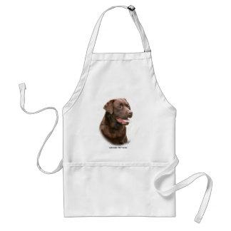 Chocolate Labrador Retriever Aprons