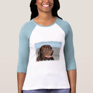 Chocolate Labrador Retriever Baseball Shirt
