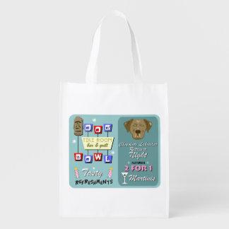 Chocolate Labrador Retriever Bowling Grocery Bags