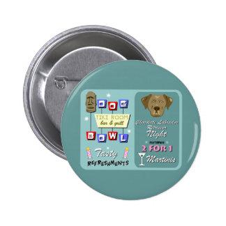 Chocolate Labrador Retriever Bowling Pinback Button