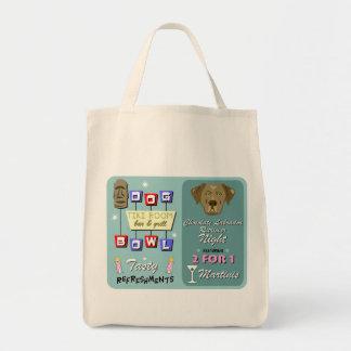 Chocolate Labrador Retriever Bowling Tote Bag