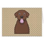 Chocolate Labrador Retriever Cartoon Card