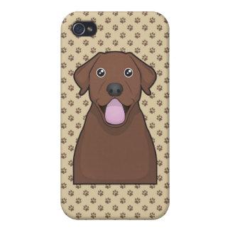 Chocolate Labrador Retriever Cartoon iPhone 4 Cases