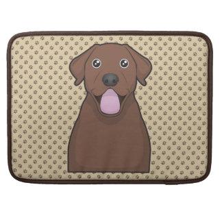 Chocolate Labrador Retriever Cartoon MacBook Pro Sleeves
