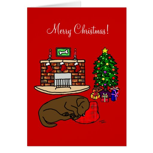 Chocolate Labrador Retriever Christmas Cards