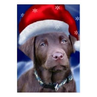 Chocolate Labrador Retriever Christmas Gifts Large Business Card