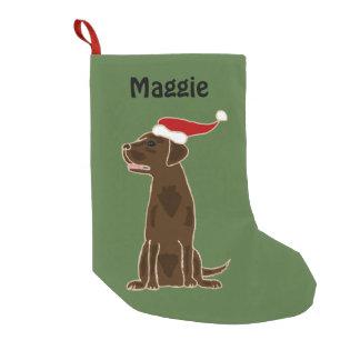 Chocolate Labrador Retriever Christmas Stocking