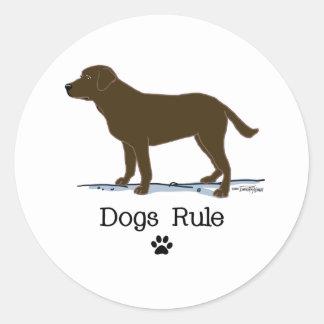 Chocolate Labrador Retriever Classic Round Sticker