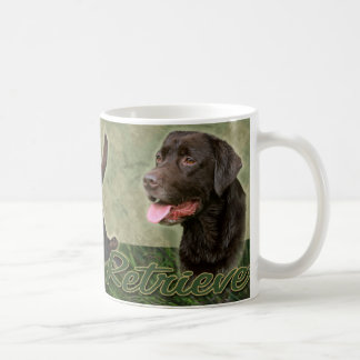 Chocolate Labrador Retriever collage Mug
