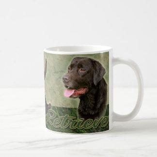 Chocolate Labrador Retriever collage Mug