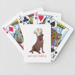 Chocolate Labrador Retriever Cooking Deck Of Cards