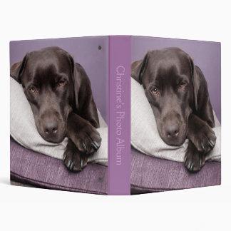 Chocolate labrador retriever custom photo album 3 ring binder