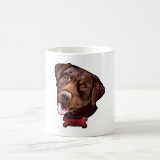 Chocolate labrador retriever dog coffee mug
