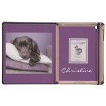 Chocolate labrador retriever dog custom girls name cases for iPad