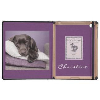Chocolate labrador retriever dog custom girls name iPad cover