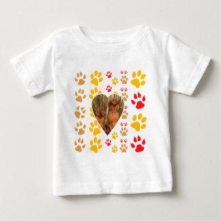 Chocolate Labrador Retriever  Dog Hearts Paw Print Infant T-shirt