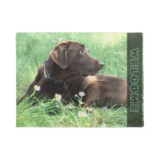 labrador, retriever, door mat, doormat, dog, welcome, animals, gift, housewarming,