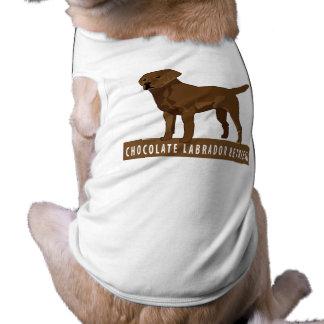 Chocolate Labrador Retriever Pet Tee Shirt