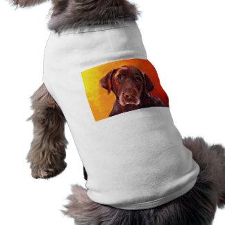 Chocolate Labrador Retriever Doggie T-shirt