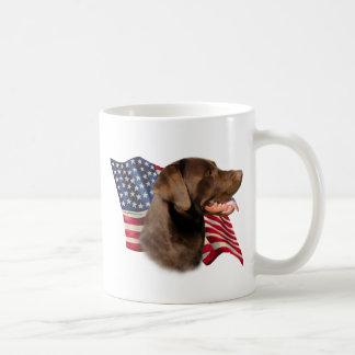 Chocolate Labrador Retriever Flag Mugs