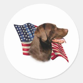 Chocolate Labrador Retriever Flag - Sticker