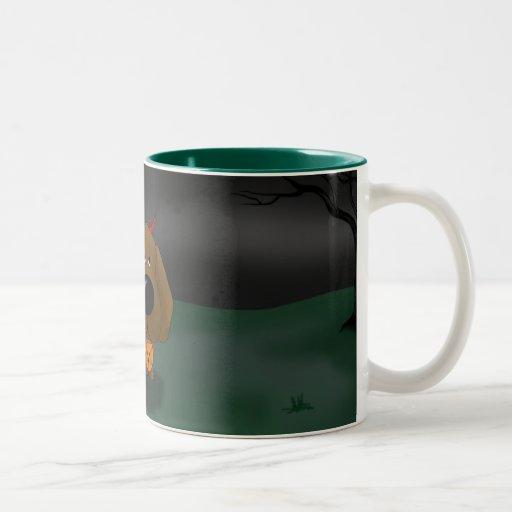Chocolate Labrador Retriever Halloween Two-Tone Coffee Mug