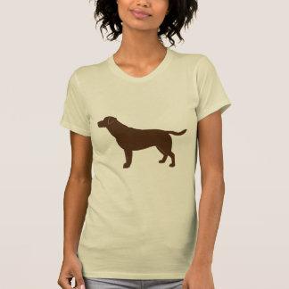 Chocolate Labrador Retriever in Silhouette Tshirts