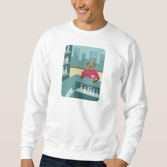 Chocolate Labrador Retriever Martini Sweatshirt