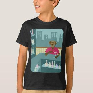 Chocolate Labrador Retriever Martini T-Shirt