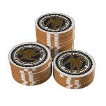 Chocolate Labrador Retriever Poker Chips