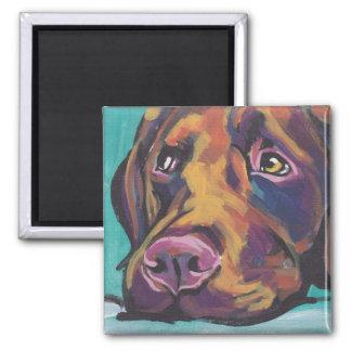 Chocolate Labrador Retriever Pop Art Magnet