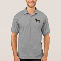 Chocolate Labrador Retriever Silhouette Polo Shirt