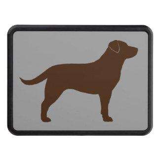 chocolate labrador retriever silhouette tow hitch cover