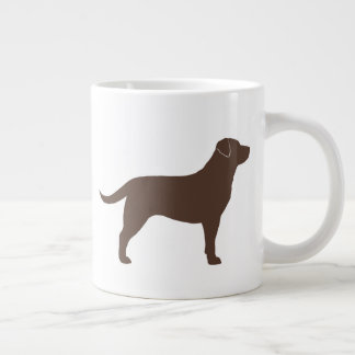 Chocolate Labrador Retriever Silhouettes Large Coffee Mug
