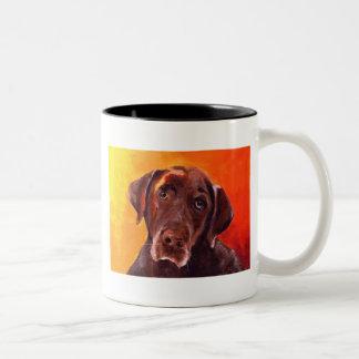 Chocolate Labrador Retriever Two-Tone Coffee Mug