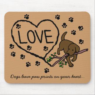 Chocolate Labrador Sand Letters Cartoon Mousepads