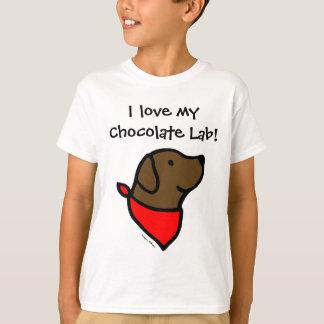 Chocolate Labrador & Scarf Cartoon T-Shirt